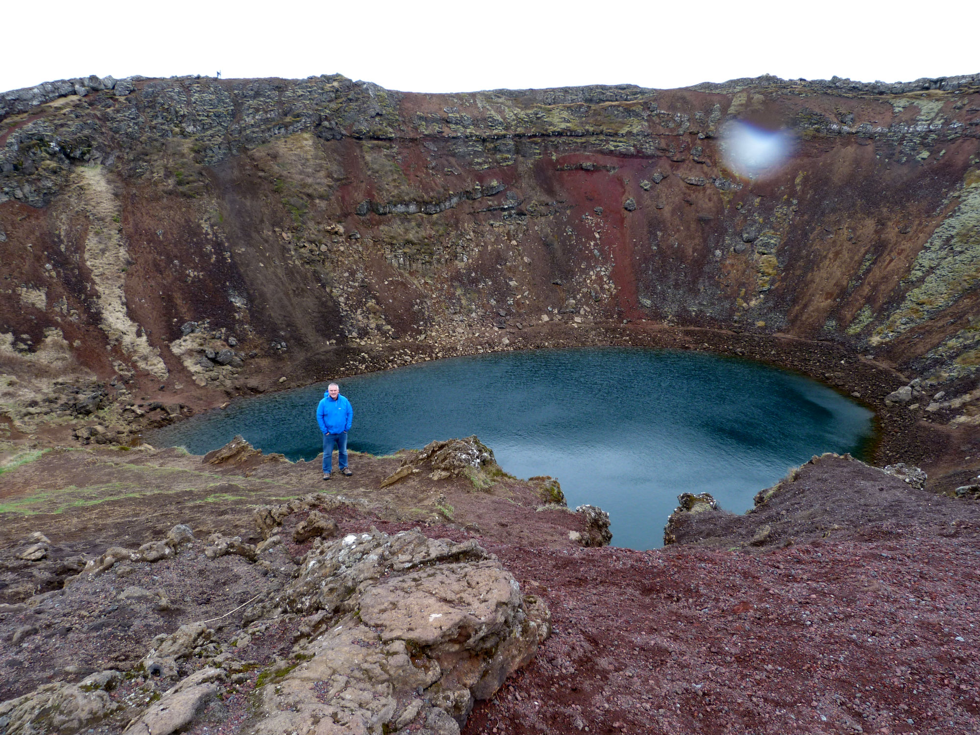 Kerid Crater. I think it was formed by a penny dropped from a helicopter.