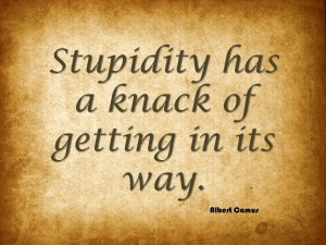 Stupidity has a knack of getting in its way.
